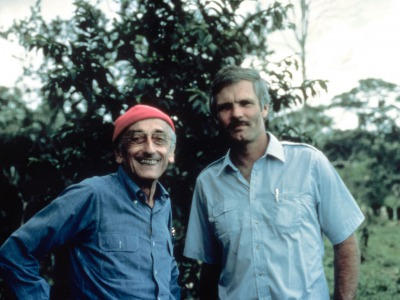 Jacques Cousteau and his prized pupil Ted Turner
