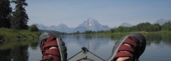 Wildness into focus: Franz Camenzind's view of the Tetons from the perspective of a recent paddle on the Snake River.