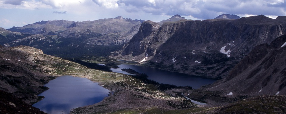 Macon & Washakie Lakes, Wind River Range, Popo Agie Wilderness on the Shoshone National Forest, Wyoming. Photo by Jim Peaco, courtesy National Park Service