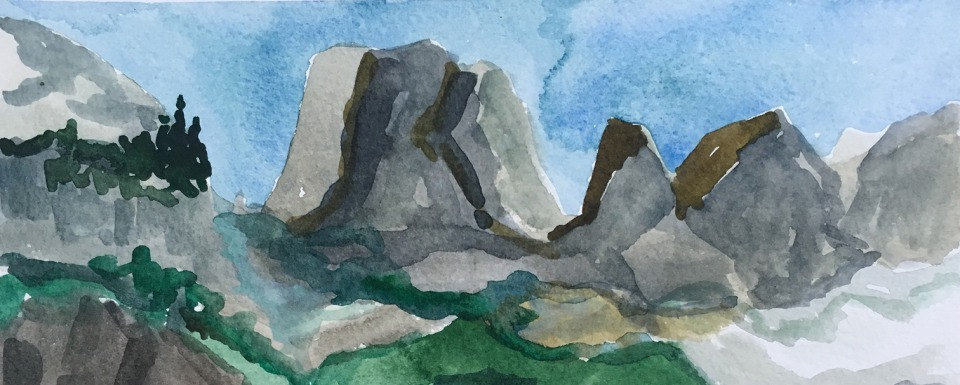 A view of Rock of Ages high in the Tetons by Sue Cedarholm