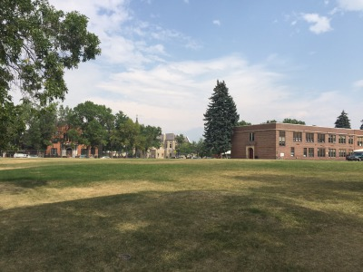The historic lawn of the Emerson Cultural Center in Bozeman