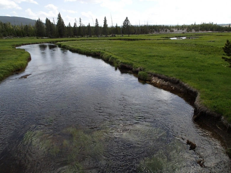 Yellowstone's tranquil Gibbon River, named after an Army officer who carried out a massacre of Nez Perce.  Does Col. John Gibbson deserve to be honored with a landscape feature in America's first national park?