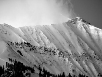 The Madison Mountains, photo courtesy Gallatin National Forest Avalanche Center, B. Vandenbos