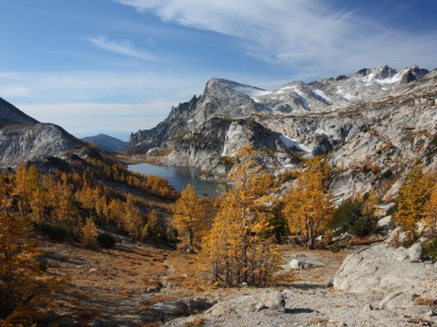 Enchantment Basin from Prusik Pass in Alpine Lakes Wilderness  by Jeffrey Pang