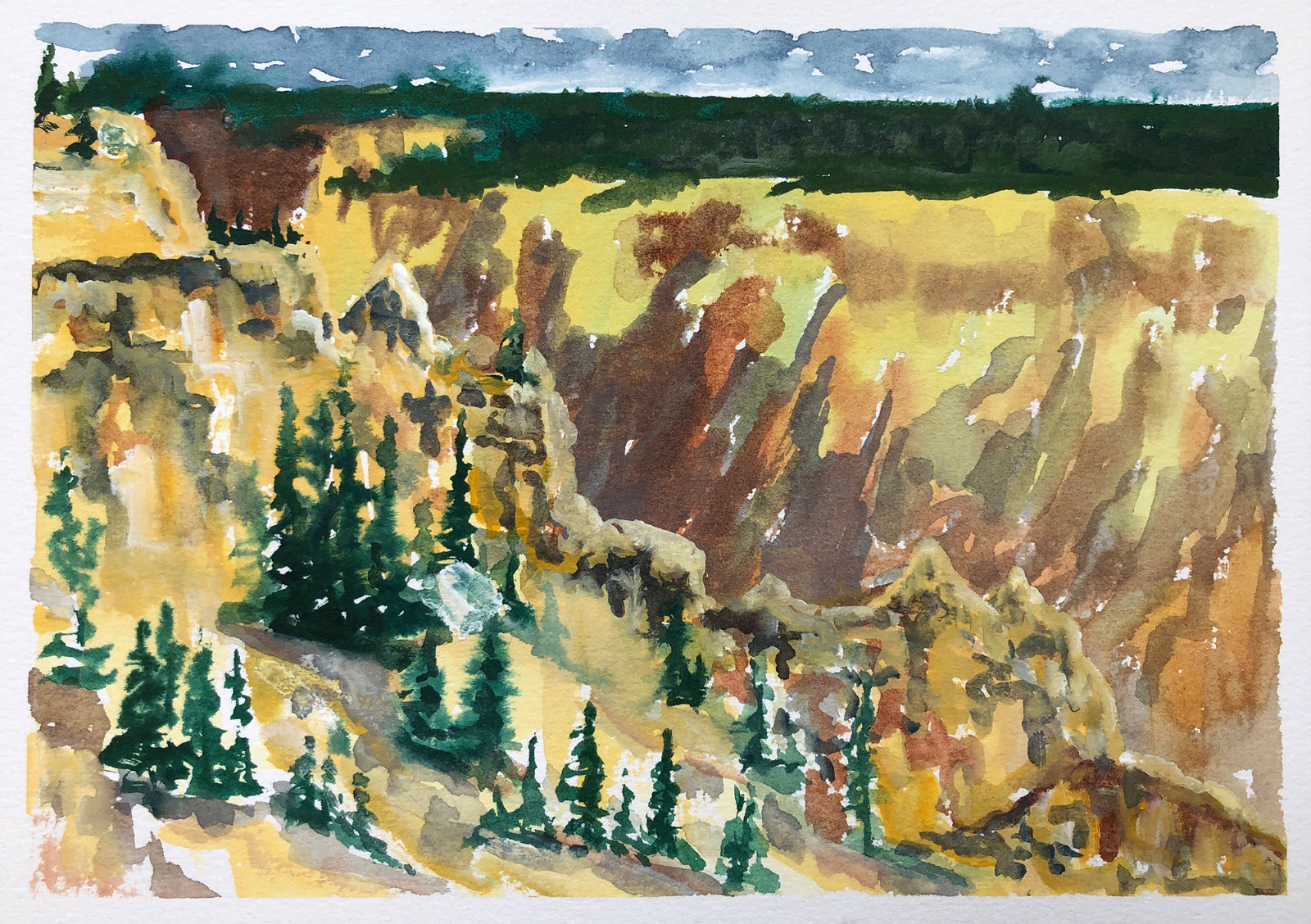 The Grand Canyon of the Yellowstone by Sue Cedarholm