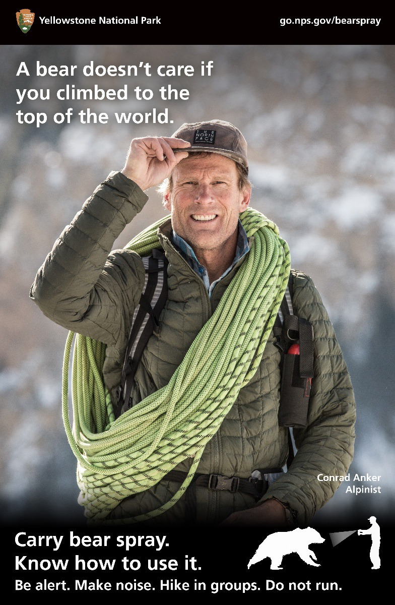 "Bozeman mountaineer Conrad Anker, known for summiting Everest and other peaks around the world (including being featured in the film Meru with Jimmy Chin and  Renan Ozturk) is one of the famous faces in ""A Bear Doesn't Care...""  Click on photo to enlarge"