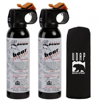 "UDAP offers its own version of ""magnum-strength"" bear spray. One has 7.9 ounces and another 13.4 ounces."