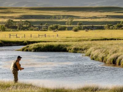 O'Dell Creek, an important fish-rearing tributary to the Madison River that flows through the Granger and Longhorn ranches