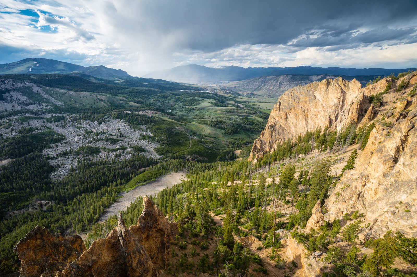 Just a small example of the expansive lands Wenk and colleagues oversee and protect.  Views from the Bunsen Peak Trail, Yellowstone National Park.  NPS photo / Jacob W. Frank