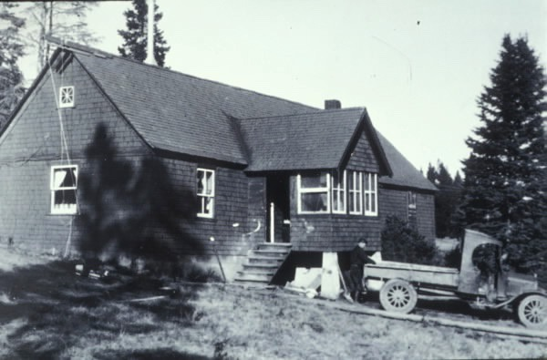 """The house I inhabit in 1930…not much has changed. The tree in front  existed only as a stump when I moved in and that too is gone now,"" Fuller writes."