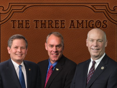Steve Daines, Ryan Zinke and Greg Gianforte
