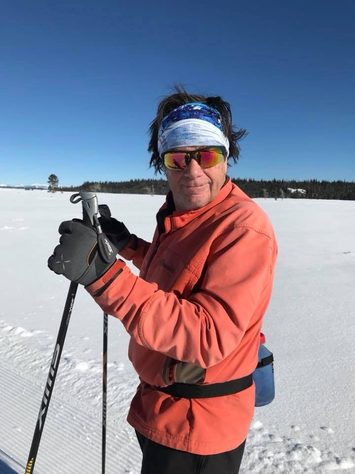Our last glimpse of David Swift. Kathryn Turner took this photo of him as they rendezvoused while cross country skiing in Grand Teton National Park. Photo courtesy Kathryn Turner