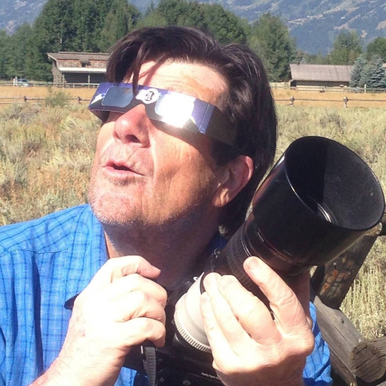 "Embrace the mystery: Swift called after the eclipse and described it as a profoundly meaningful experience, especially because it was shared with his son, Dyson, who took this photo of his Dad. David gladly circulated it on social media with this description:  ""Dyson shot me brandishing my moue of wonder and a hybrid flare-shoo."""