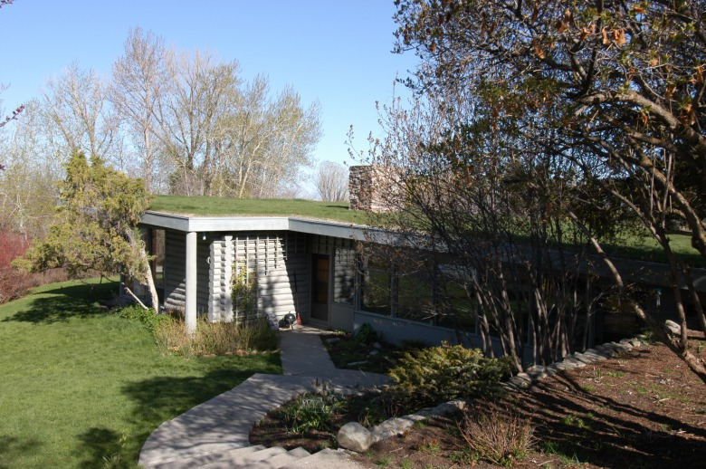 Besides concealment, low-slung sod-roof homes give occupants a more intimate connection to the earth and the grass absorbs heat, one small tool in addressing climate change. Photo by Joe Valerio
