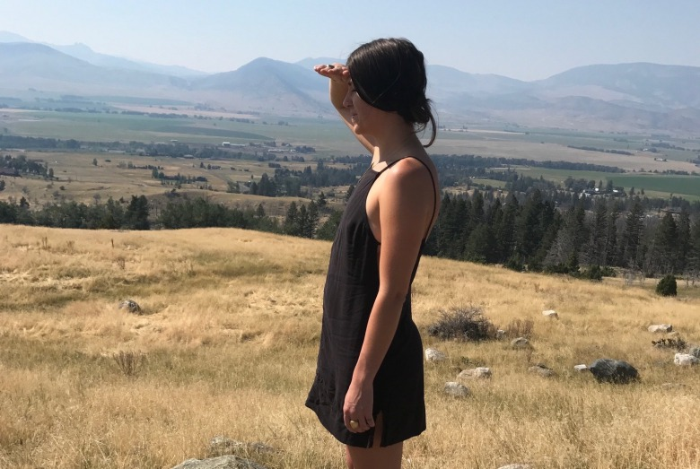 Dads need to pay attention and be there for their daughters, columnist Timothy Tate says. Here  Tate's daughter Abbey surveys her childhood homeland on a recent visit to southwest Montana. Photo by Timothy Tate