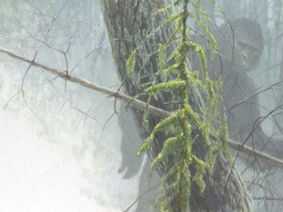 """Sasquatch,"" a painting by Robert Bateman"