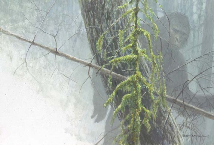 """Sasquatch,"" a painting by legendary Canadian nature artist Robert Bateman (To learn more about his collectible art, visit http://robertbateman.ca)"