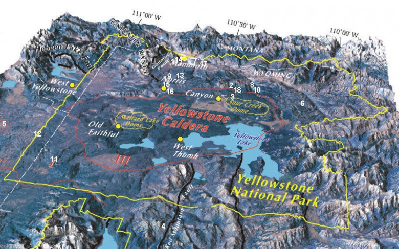 Topographic Map Of Yellowstone.The Yellowstone Caldera Is Aflutter With Recent Shakes Rattles And