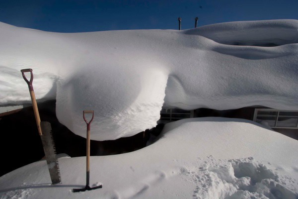 "How deep does the snow get? ""My pantry lies under a snow pillow at the back of the house."""