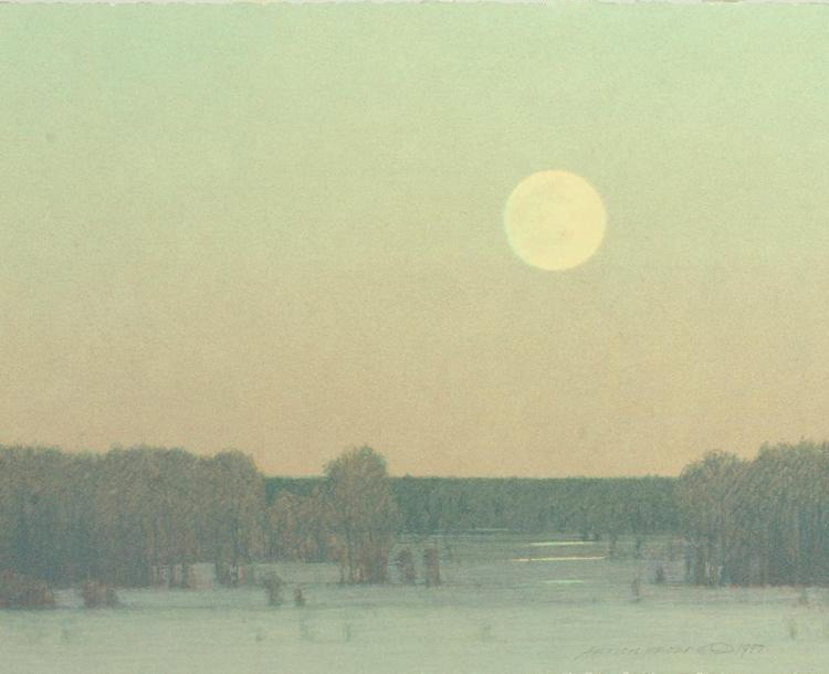 Pale Winter Moonrise by Russell Chatham