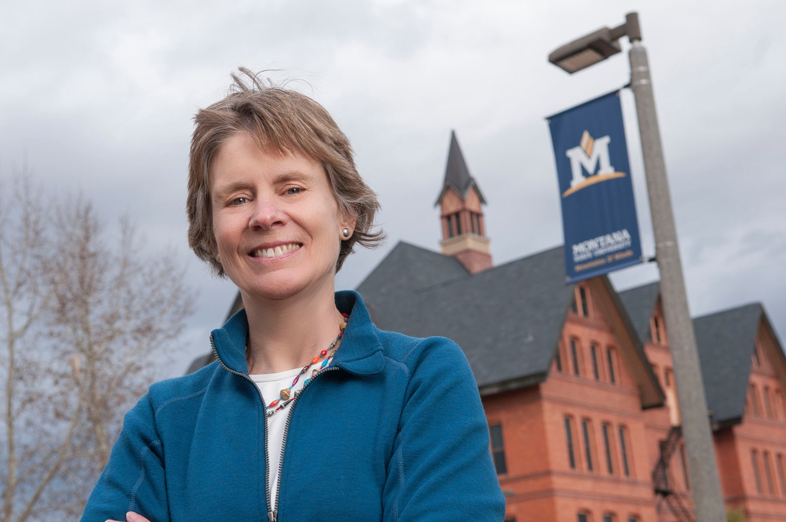 Dr. Cathy Whitlock, professor of Earth Sciences and research fellow at Montana Institute on Ecosystems. Whitlock, also involved with the relationship between wildfire and climate, was a lead author of the recent Montana Climate Assessment.