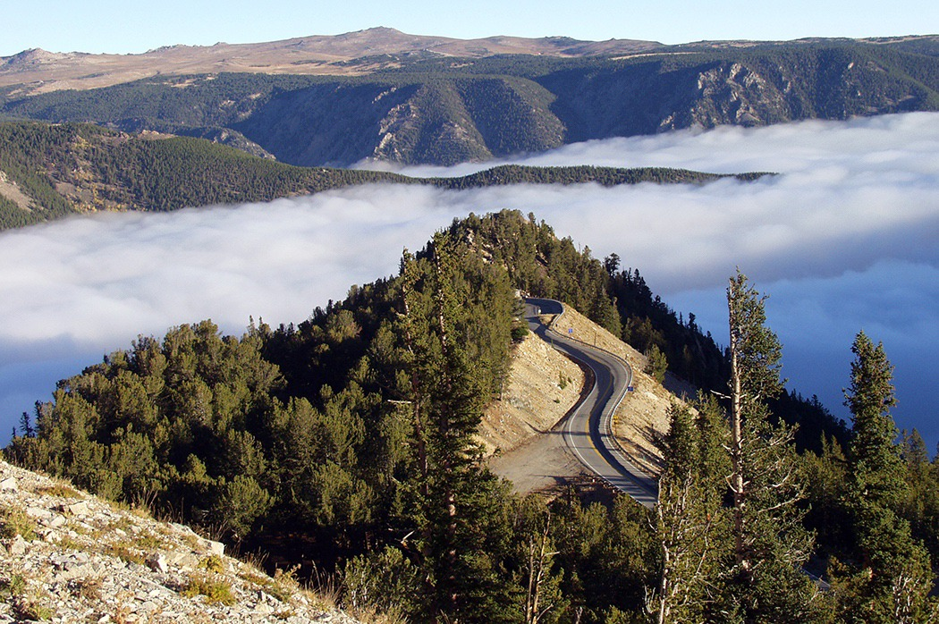 The Custer-Gallatin National Forest covers several extraordinary mountain ranges, including the mighty Absarakas. Here is the Beartooth Highway considered one of the most scenic drives in the world.  Image courtesy US Forest Service