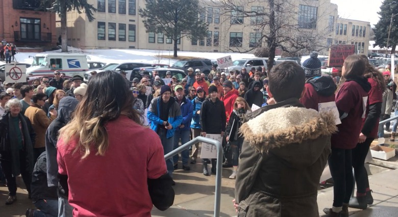 A large crowd gathered in the recent Bozeman version of March For Our Lives, which Tate says was a positive social response to prevent gun violence. He praises the young people who organized the event and who are leading the discussion nationwide.