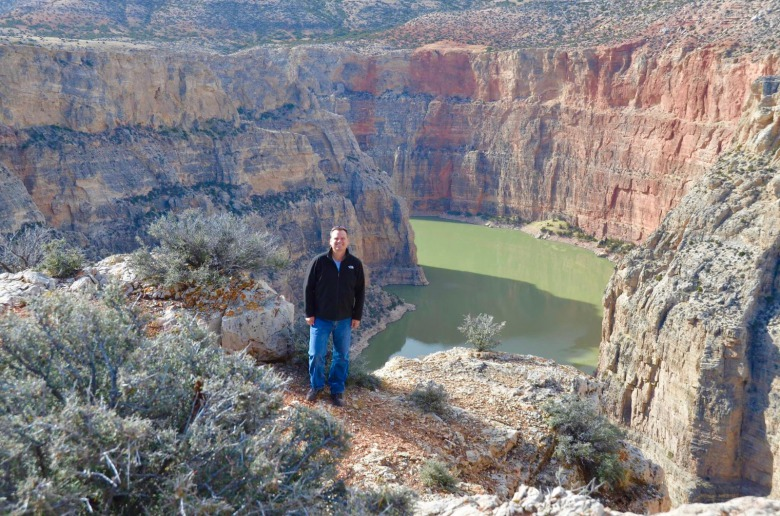 Nature is not only a place of escape and solace but for many veterans a place of healing. Here, the author stops during a hike through Bighorn Canyon which straddles the Montana-Wyoming border. Photo courtesy Todd Johnson