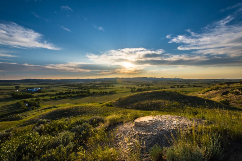 The high plains around Otter Creek, Montana, site of proposed expanded coal mining. Photo courtesy Alexis Bonogofsky