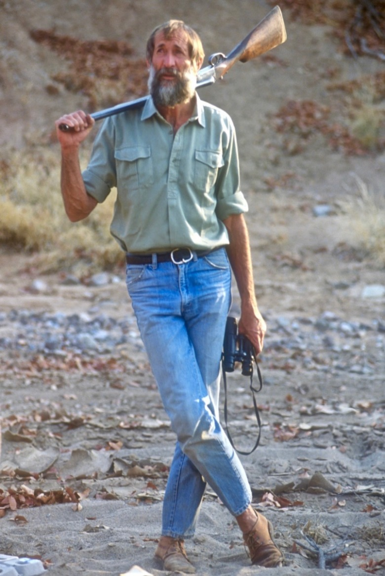 Famed conservationist Garth Owen-Smith during a meeting with Steven Fuller in Namibia in 1989.  Photo courtesy Steven Fuller