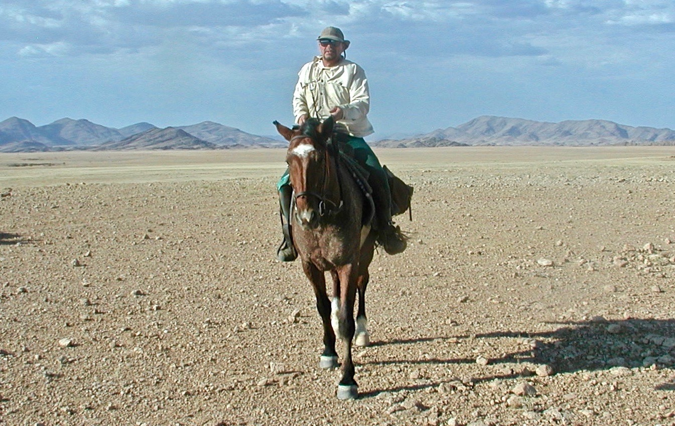 Steve Fuller on an 11-day 320km horse trip across the Namib desert from near the central plateau city of Windhoek to the town of Swakopmund on the South Atlantic Coast.