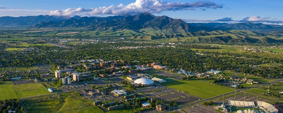 Bozeman as it is. Photo courtesy Montana State University