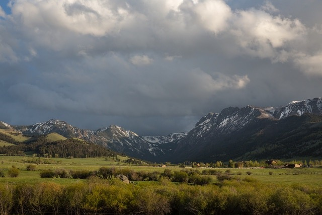 A moody view of Tom Miner Basin north of Yellowstone. Louise Johns notes,