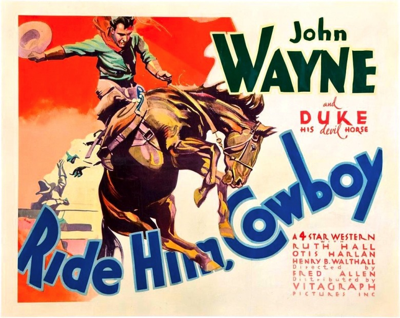 A movie poster from the 1932 Warner Brothers film.  How does Hollywood's portrayal of the West match up against reality and how much did film shape culture?