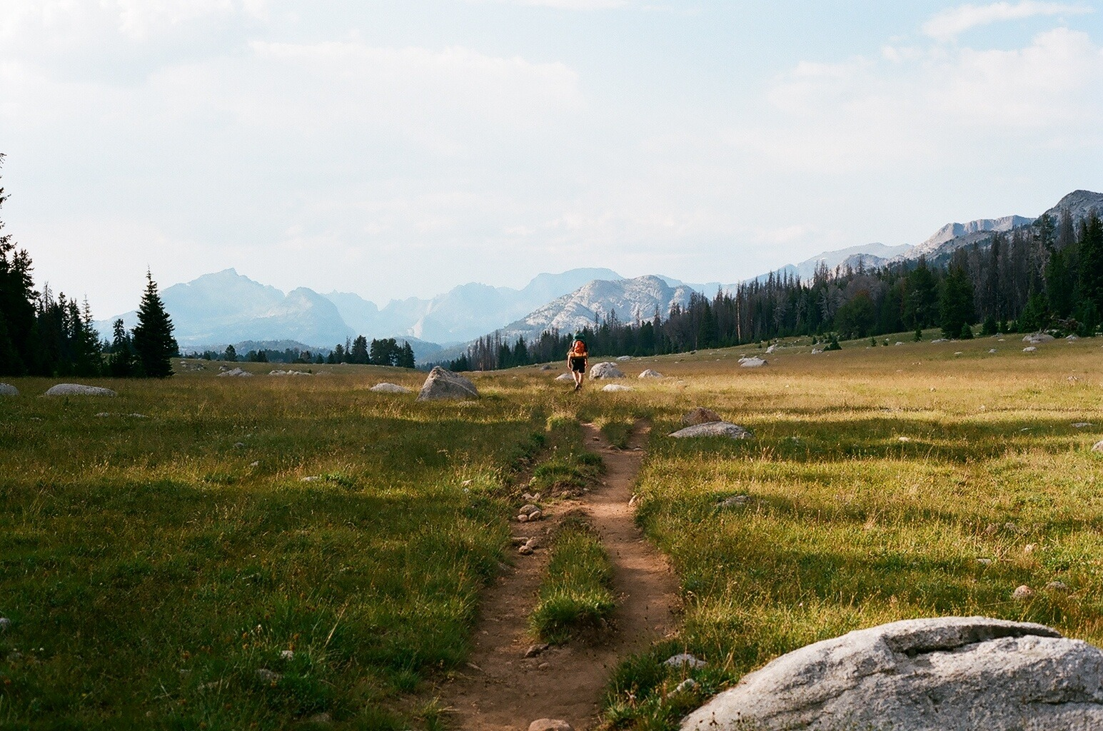The Wind River Range comes into view.  Photo courtesy Flickr user: Douglas LeMoine