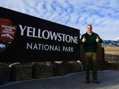 Ryan Zinke at Yellowstone's doorstep