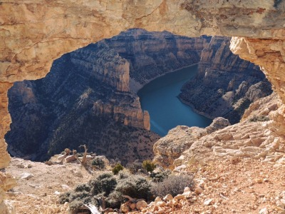 A window into Bighorn Canyon