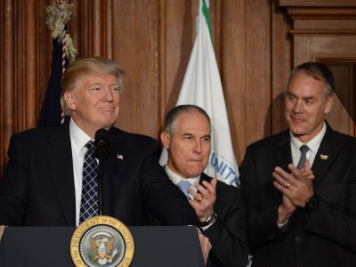 President Donald Trump, Scott Pruitt and Ryan Zinke