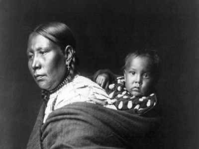 Lakota Mother and Baby