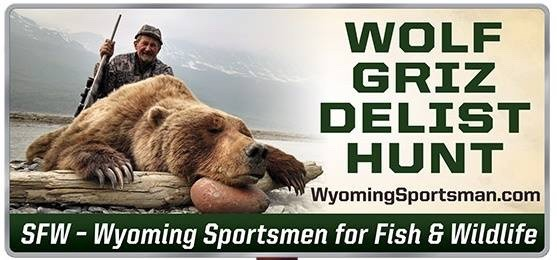 Billboard message put up in Cody by Wyoming Sportsmen for Fish and Wildlife.