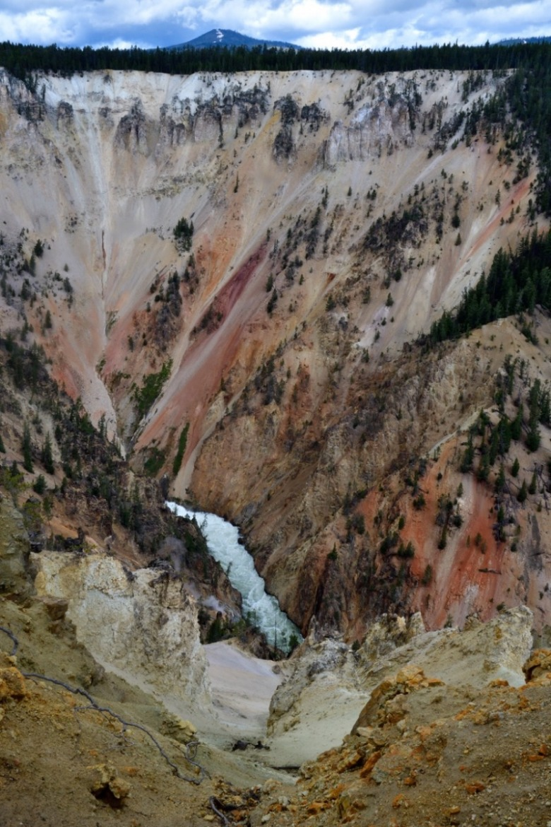 Fuller says that despite dwelling near the edge of the Grand Canyon of the Yellowstone, given constantly shifting light and shadow, he's never seen the same scene twice.