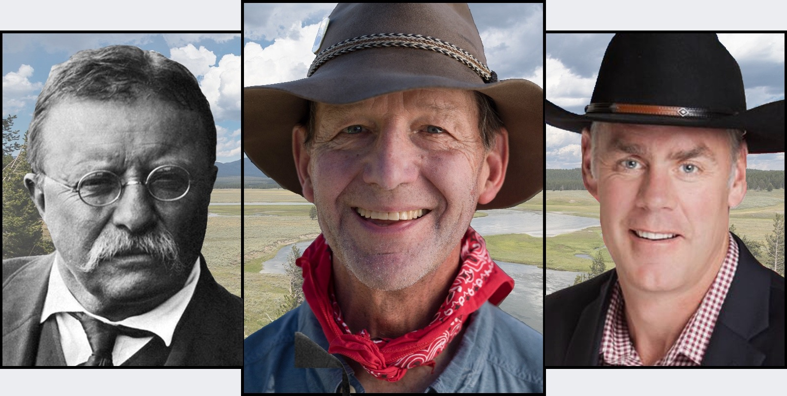 Two of these three are Theodore Roosevelt.  One of them claims to be a modern reincarnation. Is he?