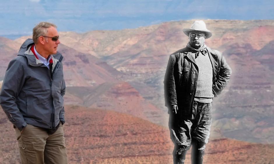 Seeing a ghost? After Interior Secretary Ryan Zinke and President Trump went to Utah and radically scaled back the size of Bears Ears and Grand Staircase-Escalante national monuments, Zinke continued to claim that TR remained a guiding light in his thinking about conservation. Historians say the monument action instead would make Roosevelt roll in his grave