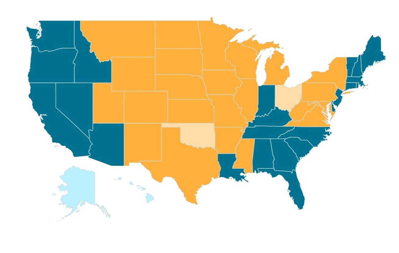 States in orange show where CWD is now present. Map courtesy CWD Alliance