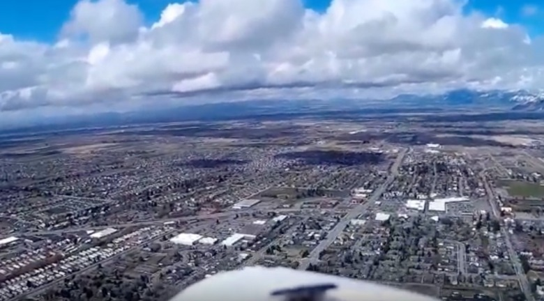 Bozeman from the perspective of a drone.  Image courtesy youtube screen shot by Ol' Prospector