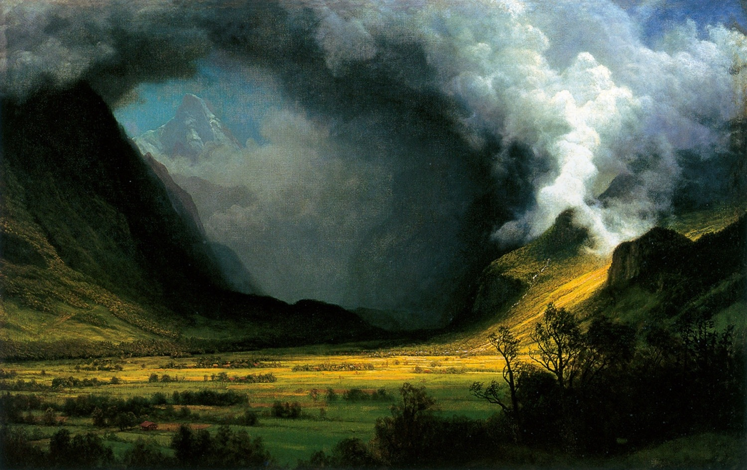 """Storm in the Mountains"" (1870) in the Museum of Fine Art, Boston"