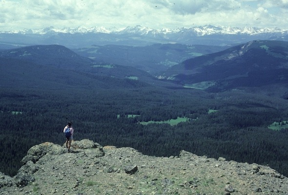 A view of the Madison Range, distant, from Ramshorn Peak in the wild Gallatin Range. Photo courtesy George Wuerthner