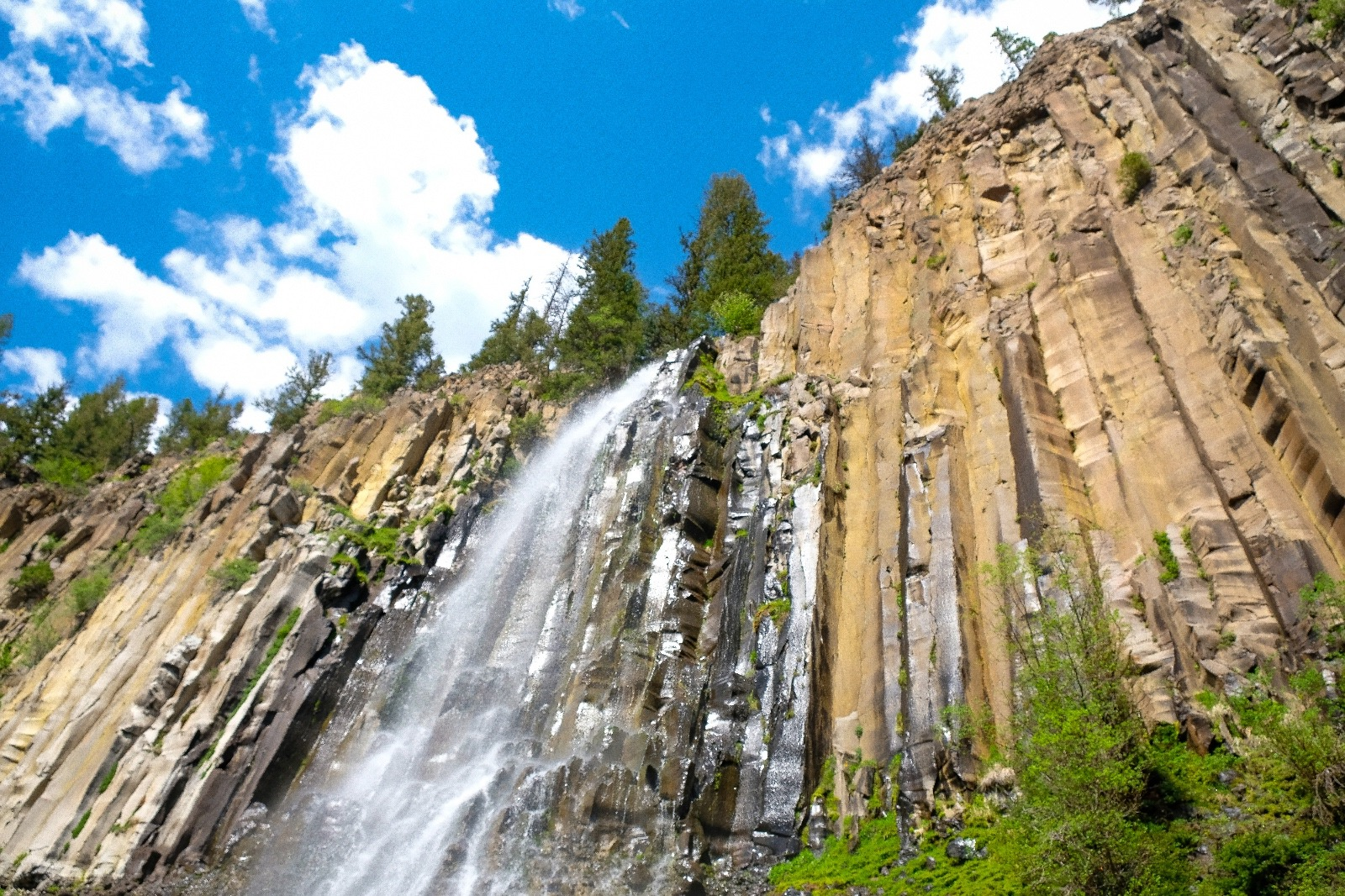 Palisade Falls up Hyalite Canyon on the Custer-Gallatin National Forest.  Photo courtesy Angus O'Keefe