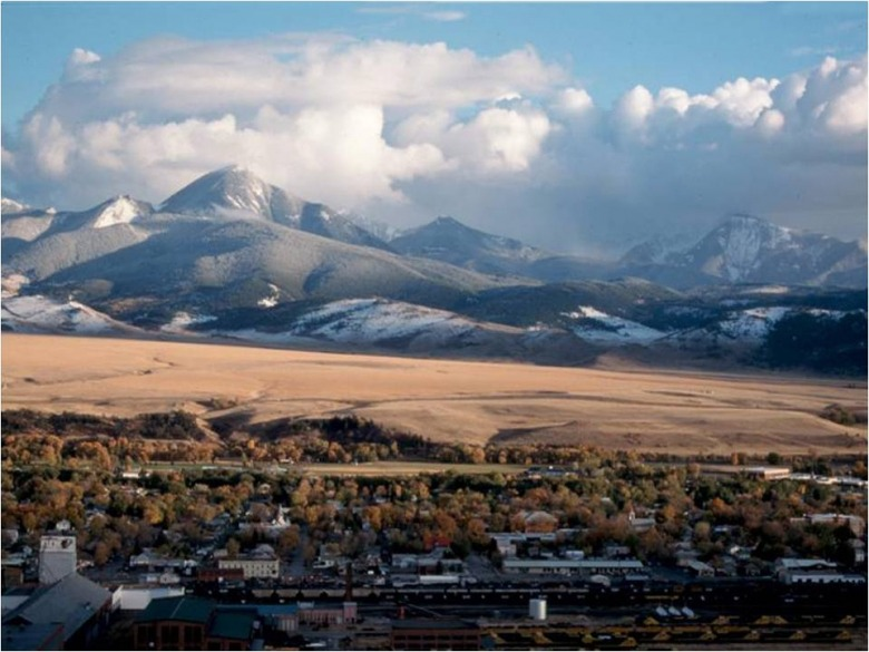 Outside the boundary of Livingston, Montana, undeveloped lands between town and the Absaroka Mountains provide a crucial apron for migratory wildlife and cement a deeper aesthetic connection to place for human denizens. Photo courtesy FutureWest (www.future-west.org)