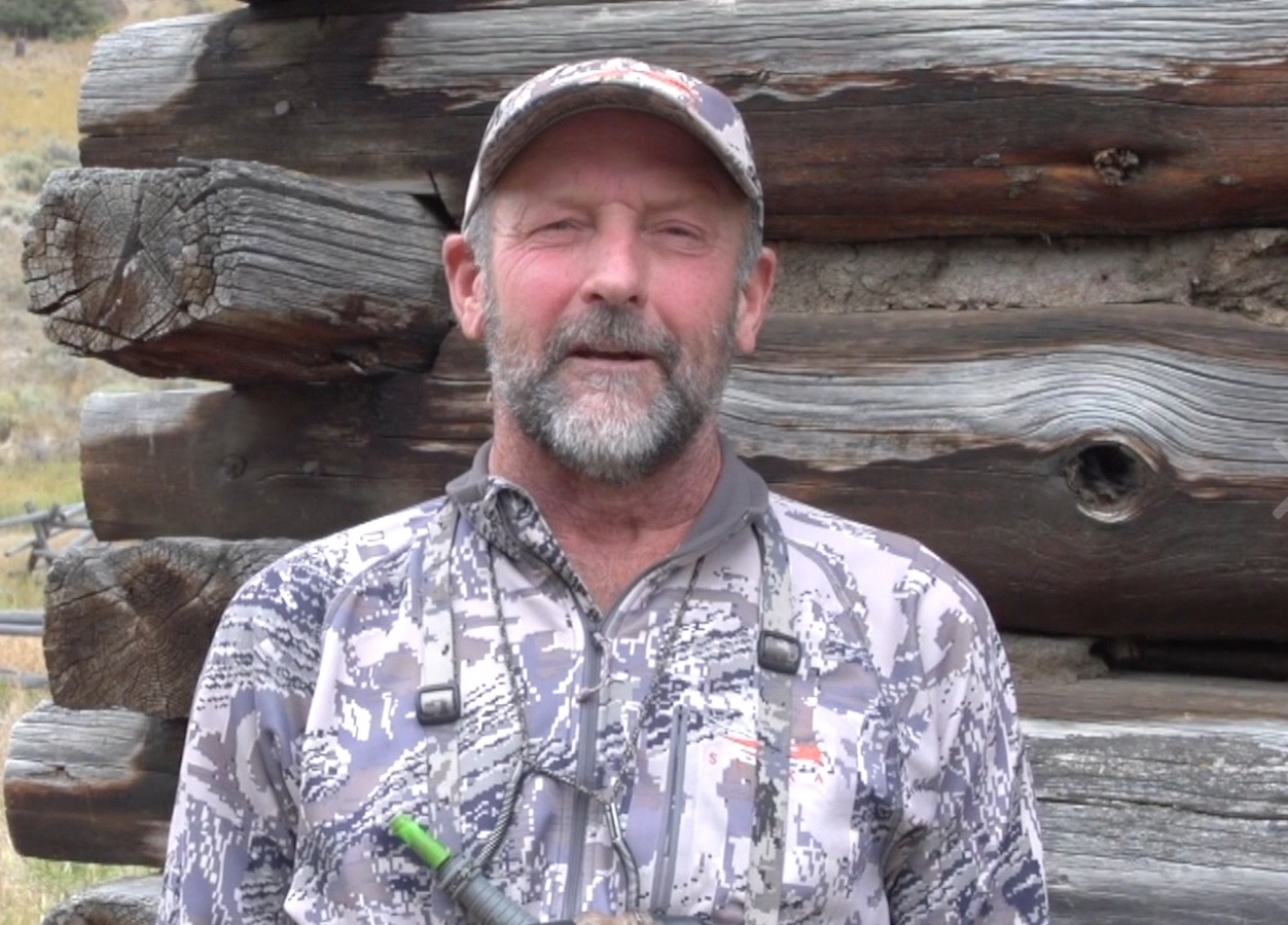 Montana hunting guide Greg Gibson whose successful use of bear spray helped save his friend and fillmmaker Bob Legasa from a grizzly attack that occurred north of Yellowstone.  Screen shot taken from Legasa's film below